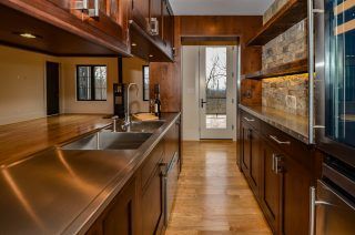 Enclosed built-in wood bar and kitchenette | Kitchen ...