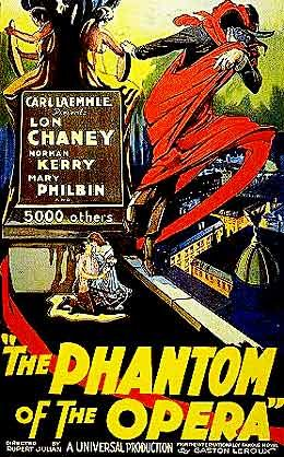 Vintage Horror Sci Fi Posters Through The 1940s Movie Posters Vintage Horror Movie Posters Phantom Of The Opera