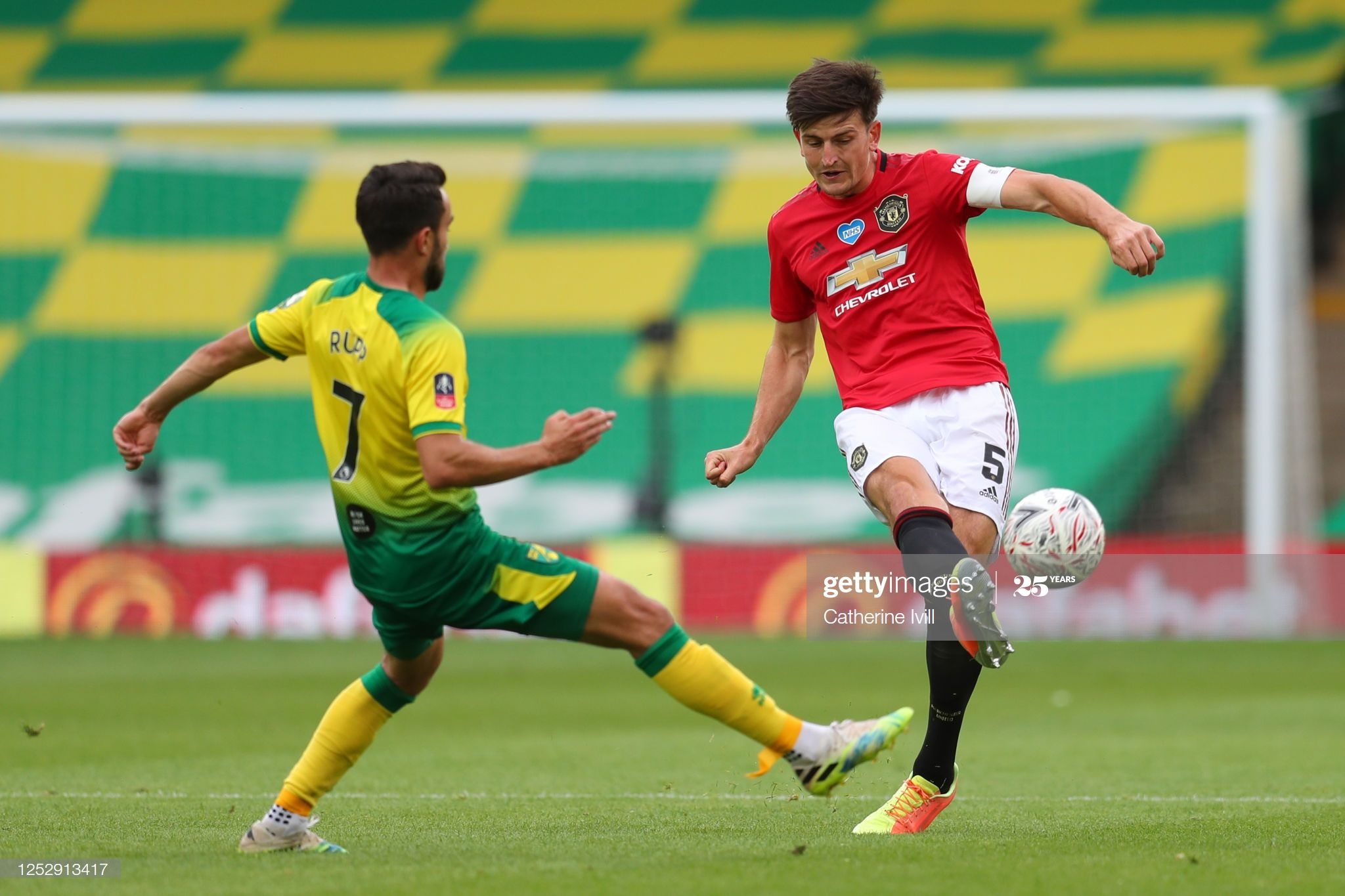 Lukas Rupp Of Norwich City Battles For Possession With Harry Maguire In 2020 Norwich City Norwich Battle