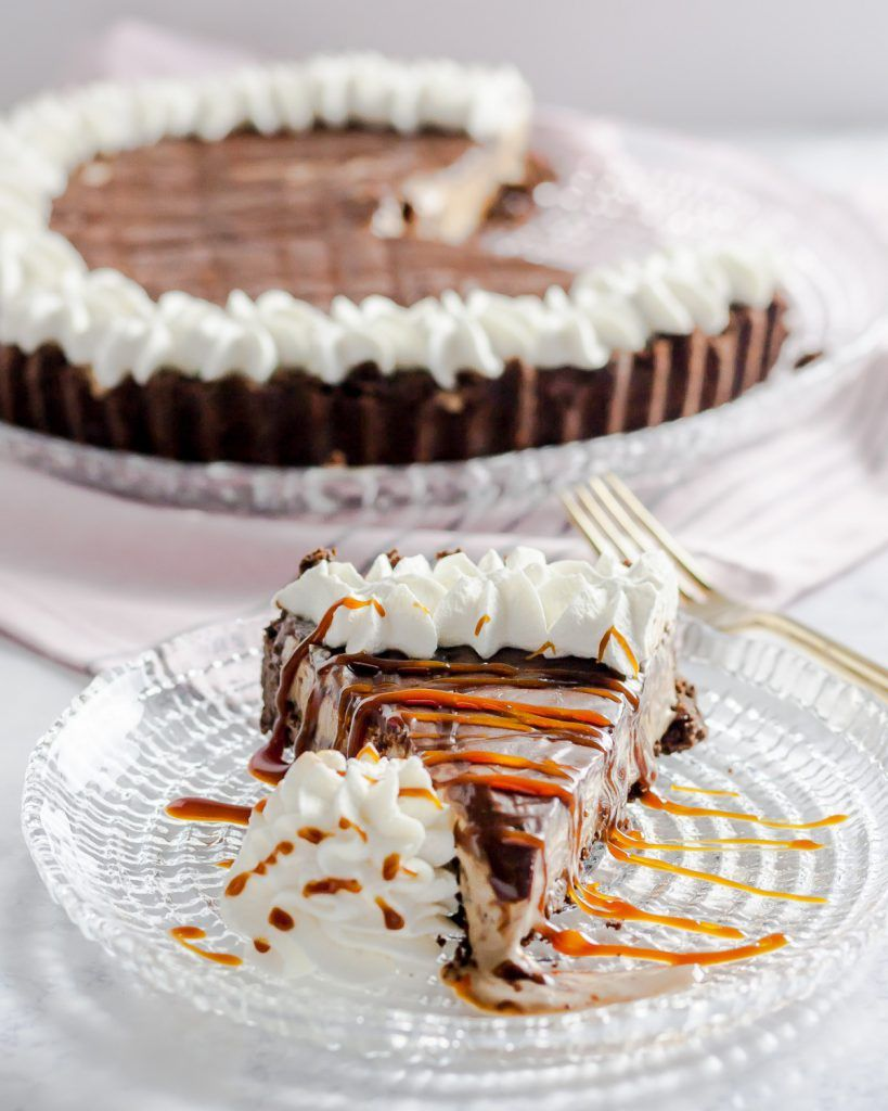 Coffee caramel ice cream pie combines all your favorite