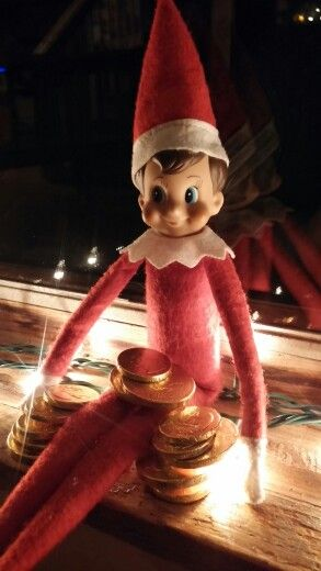 Chocolate coins from jingle elf on a shelf pinterest elves chocolate coins from jingle spiritdancerdesigns