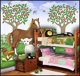 Childs Bedroom Horse Themed Bedrooms Girl Bedroom Decor Barnyard Bedroom