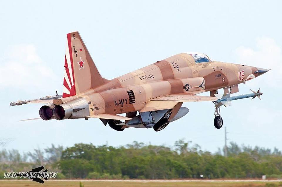 F-5N Tiger II USN agressor - NAF Andrews AFB MD