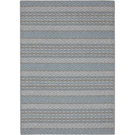 Mohawk Home Seton Stripe Tufted Nylon Rug, Blue
