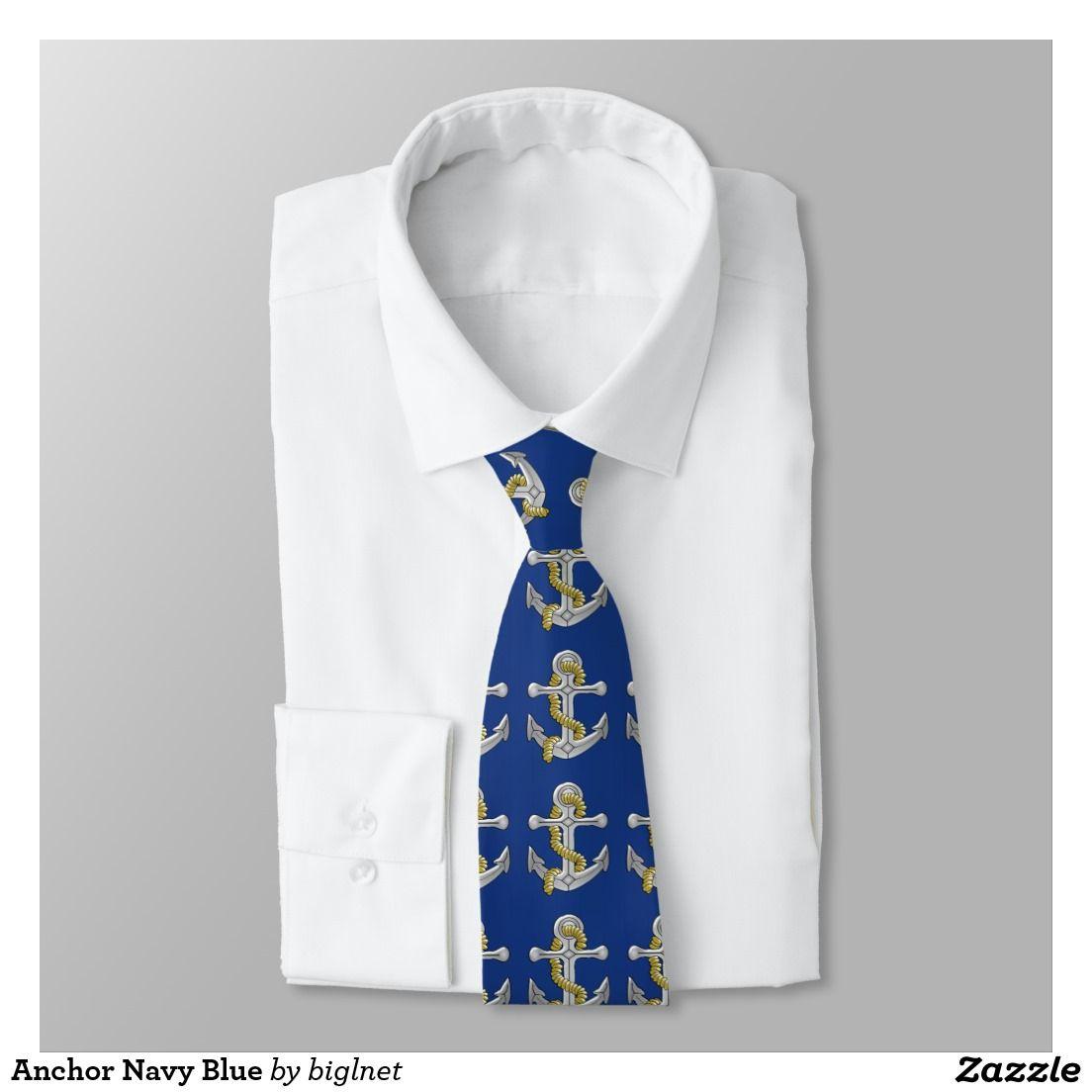 Anchor Navy Blue Tie