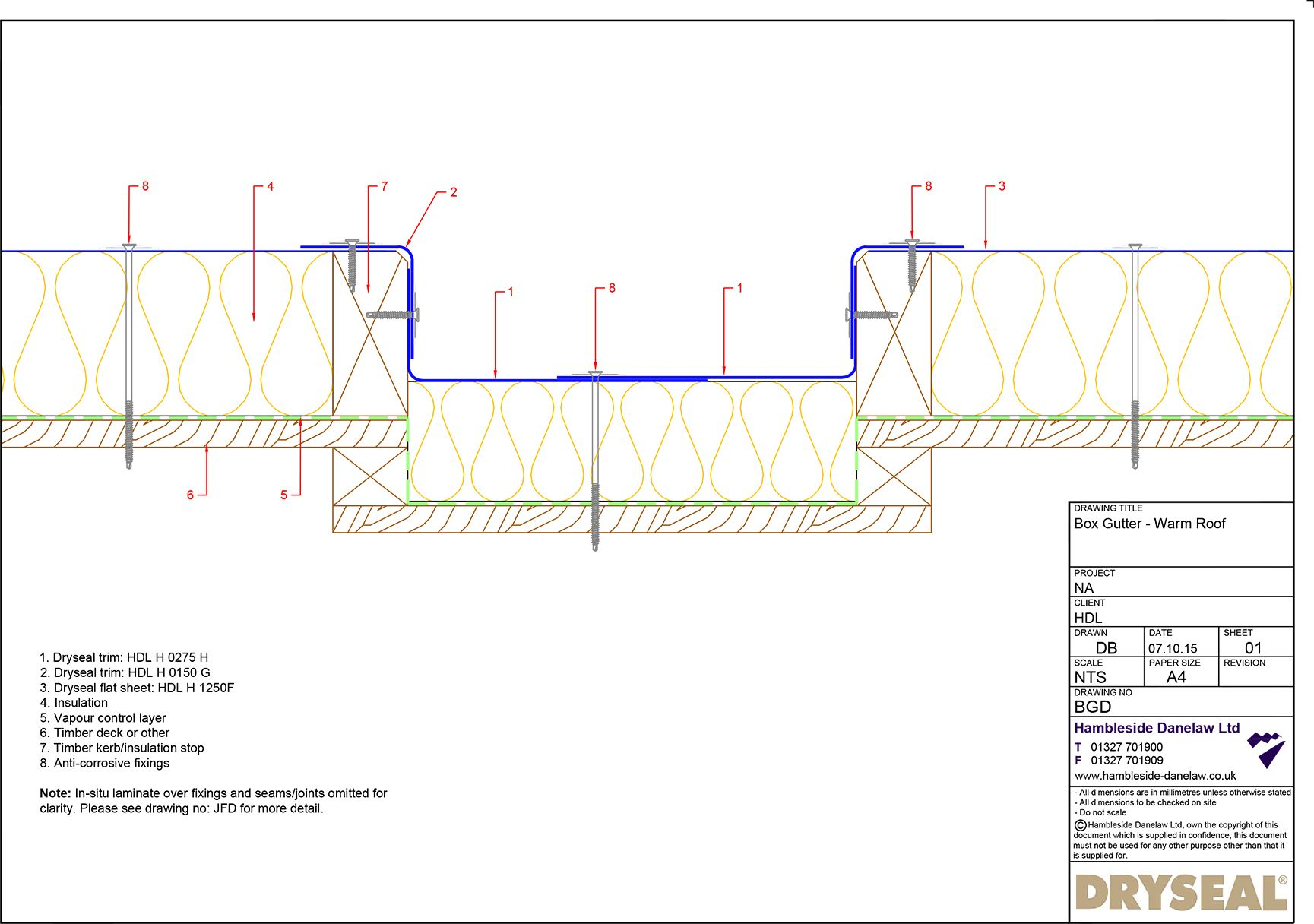 On This Page You Can Find The Pdf Instructions For Installation Of A Typical Box Gutter Detail With The Dryseal Flat Roofing System Box Gutter Gutter Gutters