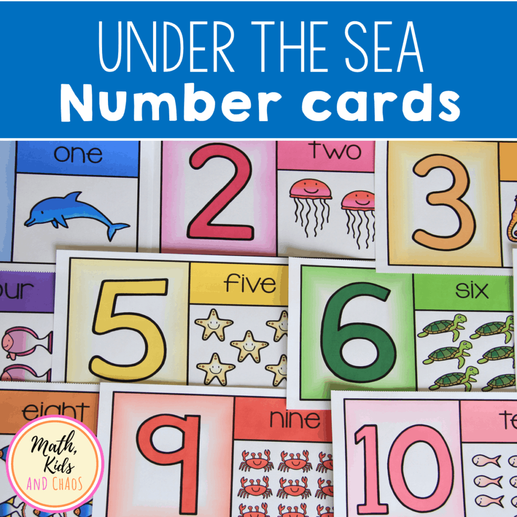 Under The Sea Number Cards For 1 To 10 In