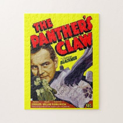 1942 The Panther S Claw Movie Poster Jigsaw Puzzle Zazzle Com Poster Prints Movie Wall Art Hanging Wall Art