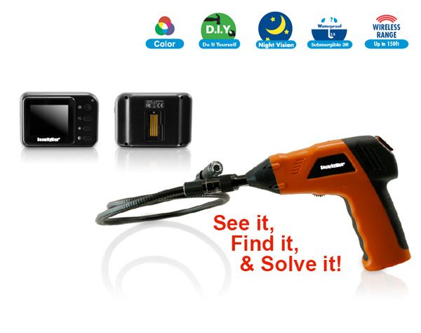 Waterproof Wireless Inspection Camera With Monitor.  $189.99
