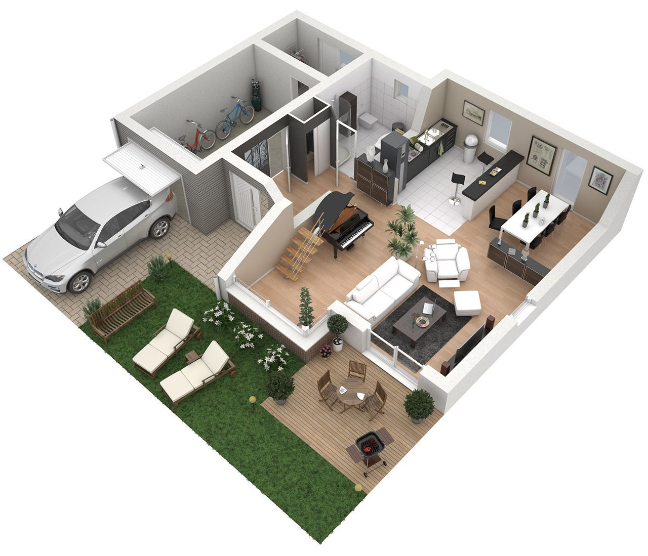 Plans Des Maisons En 3D