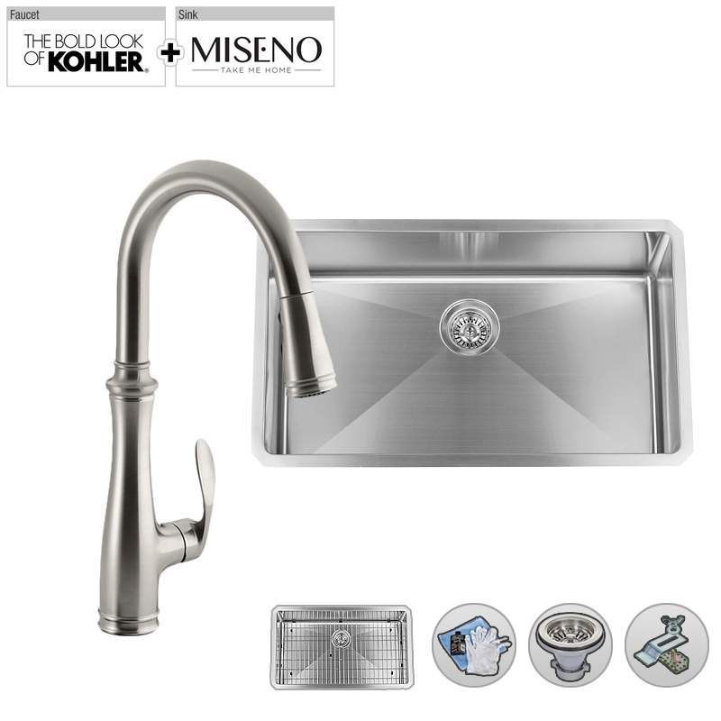 Build Smart Kits MSS163018SR/K-560-SS Vibrant Stainless Faucet ...
