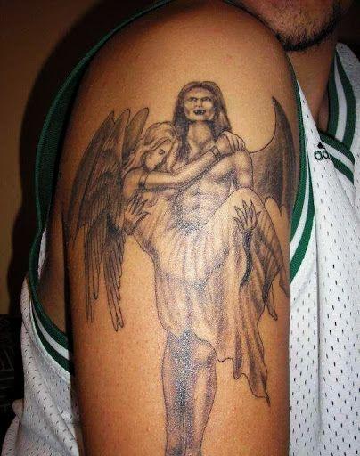 angel demon arm tattoo tattoos pinterest arm tattoo tattoo and tattoo designs. Black Bedroom Furniture Sets. Home Design Ideas
