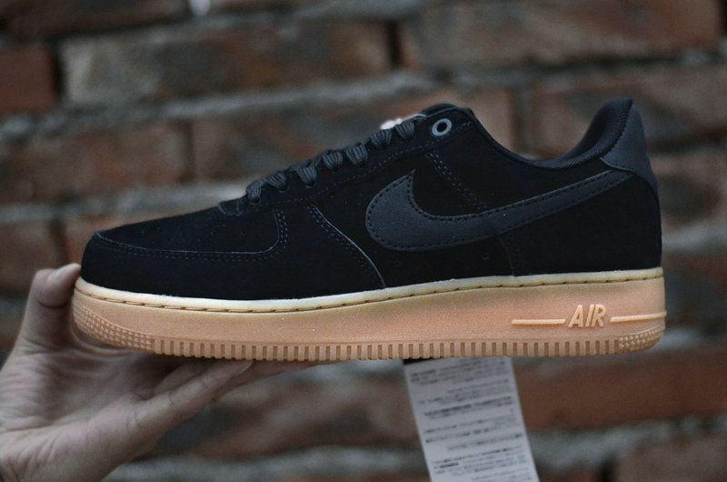 online store 88aa3 02da2 Air Force 1 07 Suede Black Black Gum Brown Ivory Mens Skate Sneaker  AA1117-001