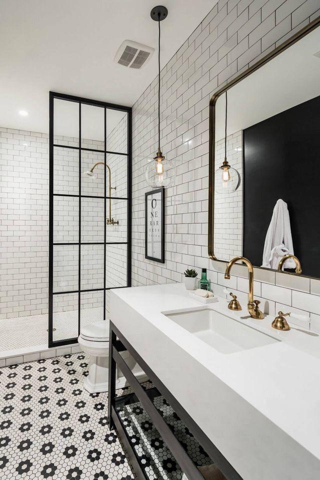 Fine Interiors Black and White Pinterest Interiors, Shower