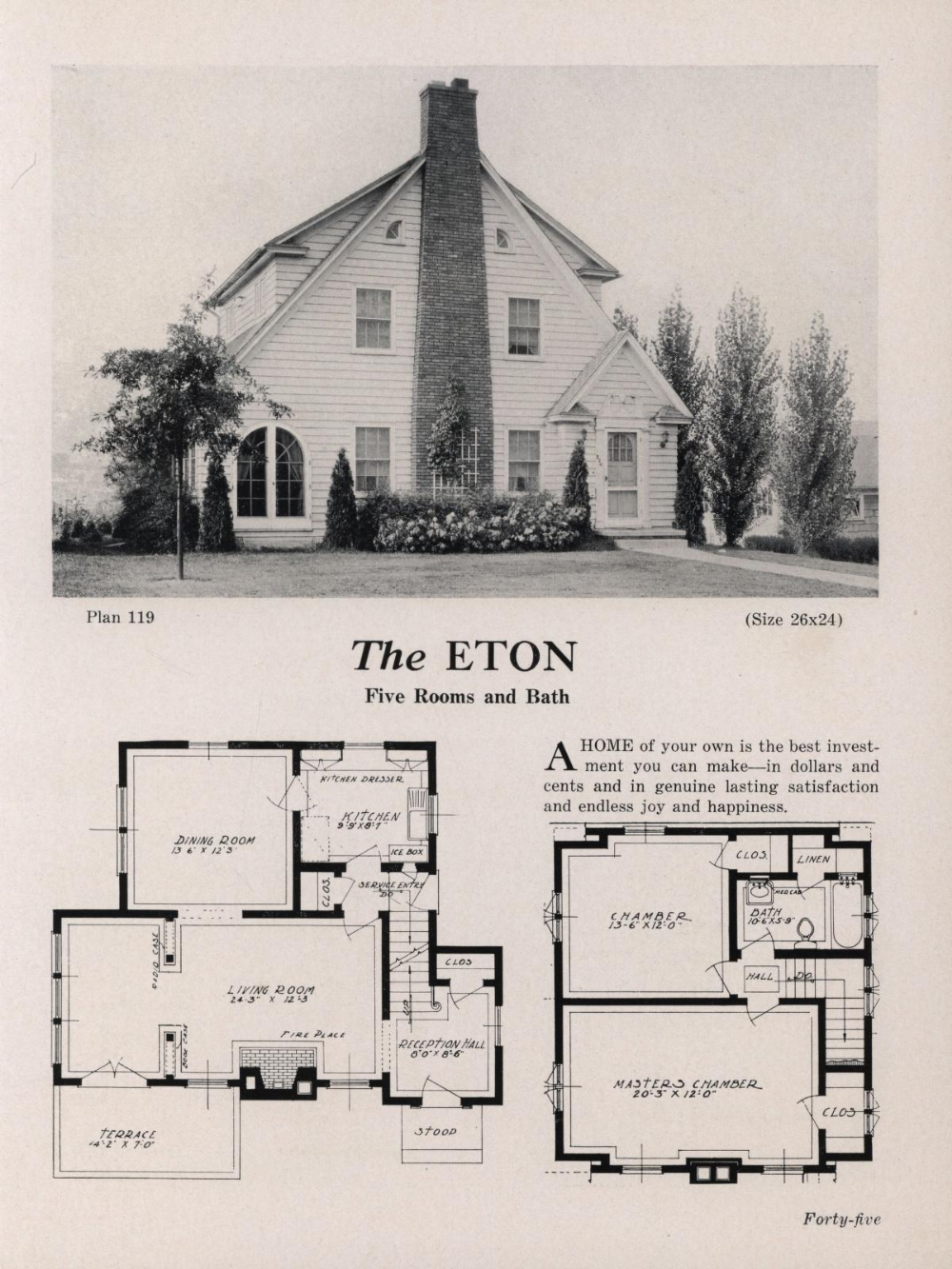 Modern American Homes Bawden Bros Inc Free Download Borrow And Streaming Internet Archive Vintage House Plans American Home Design House Plans