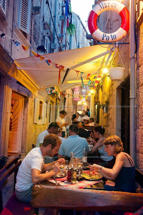 Restaurant Marco Polo In Korcula Korcula Croatia Dalmatia Croatia Croatia Travel