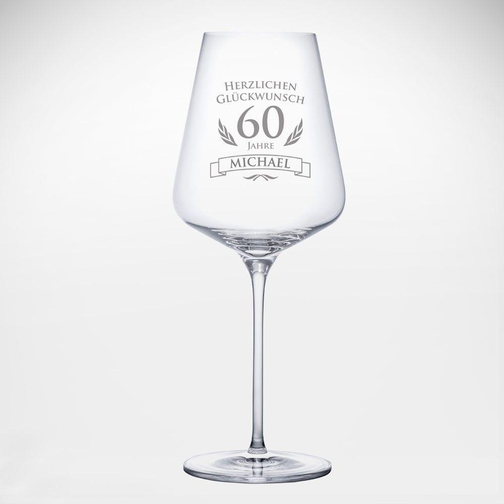 Weinglas Geburtstag 60 Jahre Personalisiert Weinglas