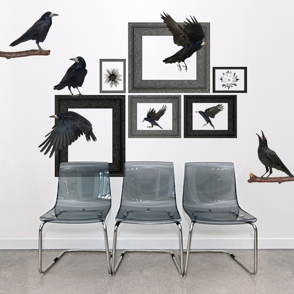 Realistic Ravens Wall Decals Wall decals, Wallsneedlove
