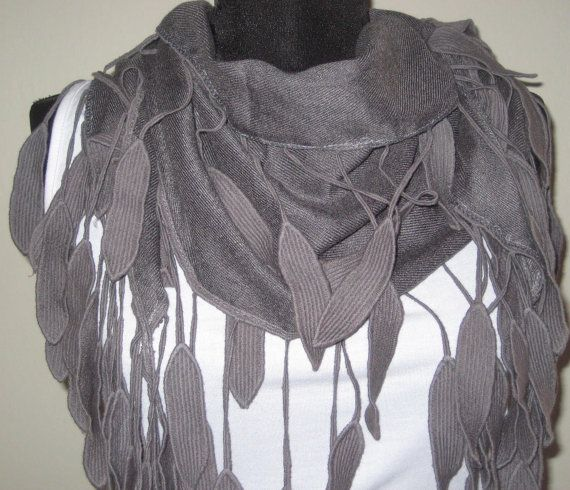 Grey Pashmina Scarf  Mother's Day gift Scarf  Spring от womenscarf, $13.00
