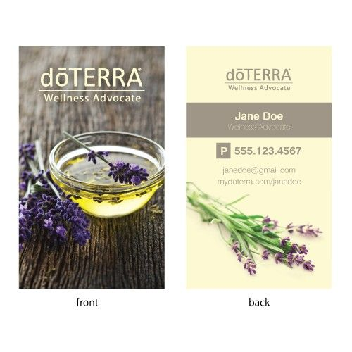 Lavender Essential Oil Business Cards 500 qty Pinteres