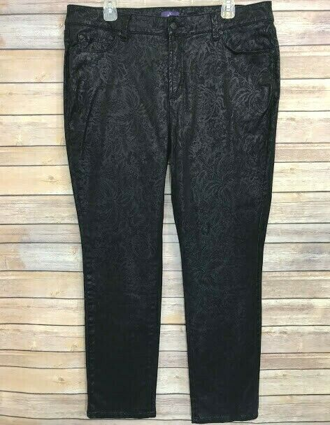 93acdc9cb77 NYDJ Not Your Daughter s Jeans Black Skinny Leg Plus Size 16W Stretch Lift  Tuck  NYDJ
