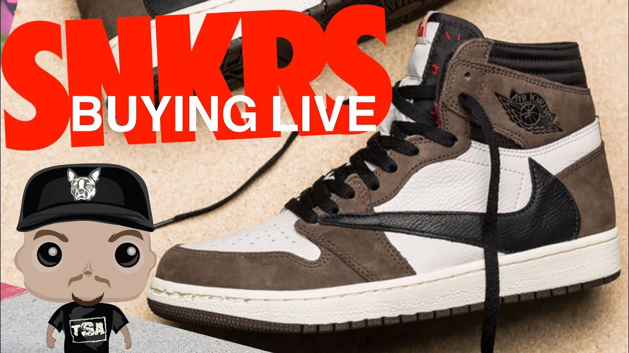 Trying to Travis Scott Air Jordan 1 Retro Sneakers Live on