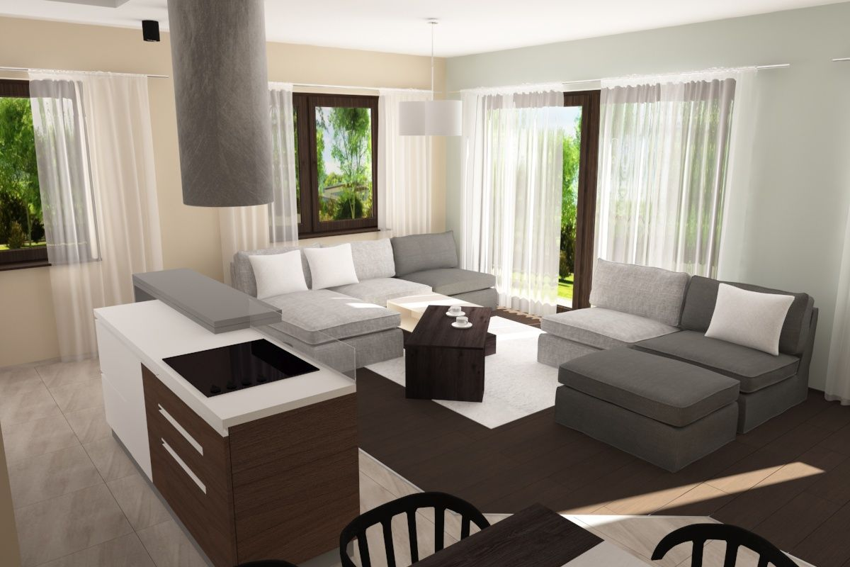 Projekt domu jednorodzinnego w Pabianicach   Freelancers 3D