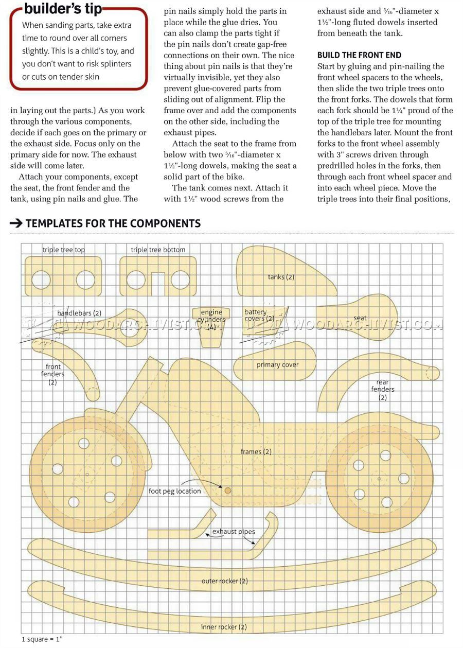 1511 rocking motorcycle plans children s wooden toy for Toy plans