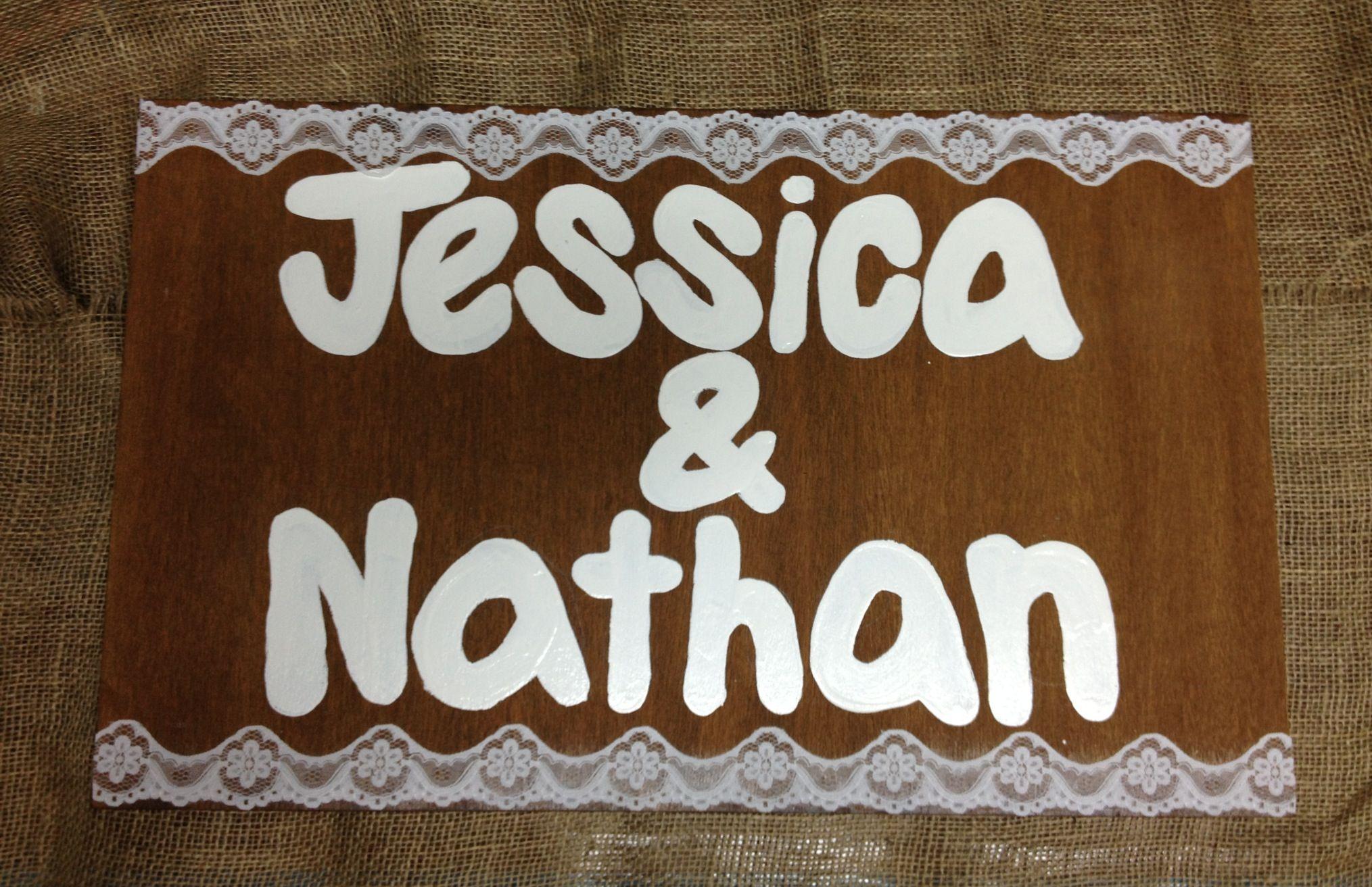 Personalised wedding signs $25