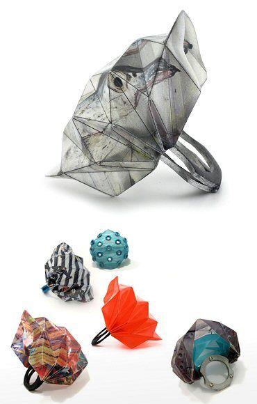 Anillo origami