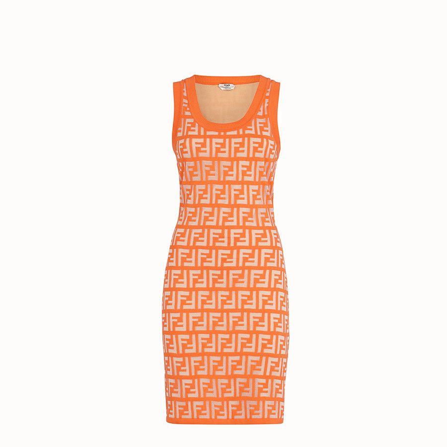 Fendi Orange Cotton Dress 1 690 Fendi Dress Fashion Cotton Dresses [ 900 x 900 Pixel ]