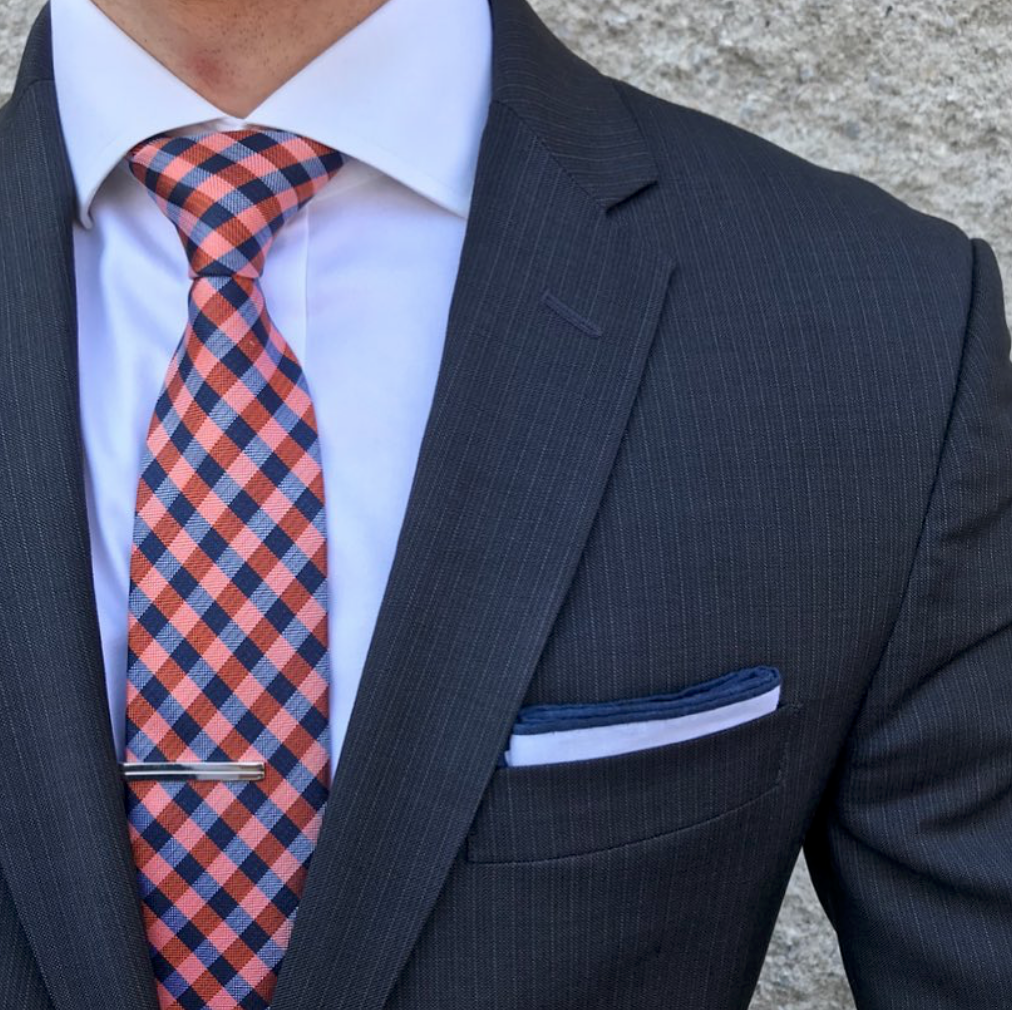 0922d585 Linen Pocket Square in White with Navy Border in 2019 | Men Suits ...
