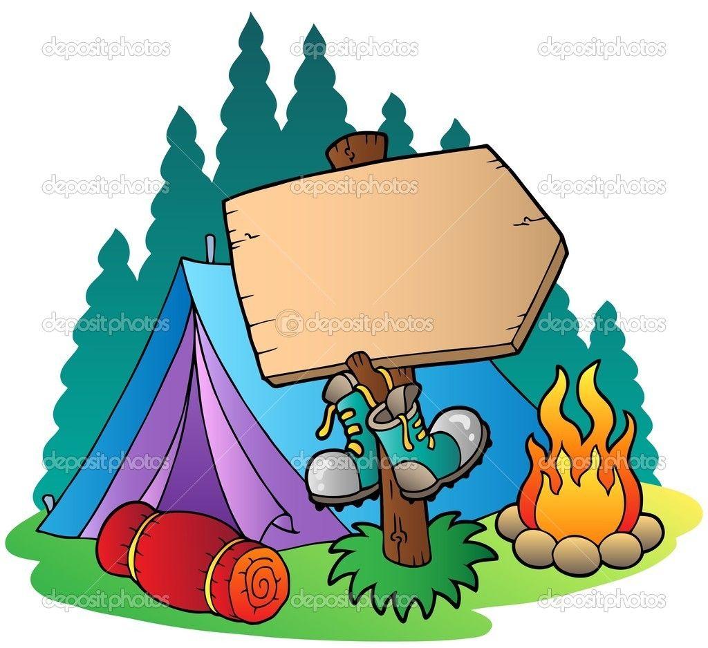 Camping Wooden Sign Near Tent Stock Vector Klara Viskova 5515038 Desenhos De Crianças Brincando Mini Desenhos Acampamento