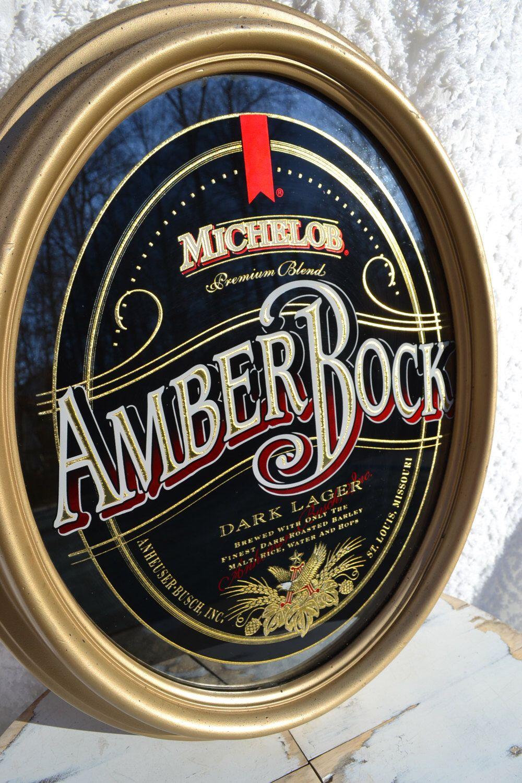 Vintage Michelob Amber Bock Mirror Vintage Bar Mirror Bar