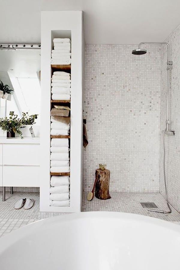 Wandfarbe Weiss Stilvoll Und Immer Modern Badezimmer Renovieren Badezimmer Mit Dusche Badezimmer Design