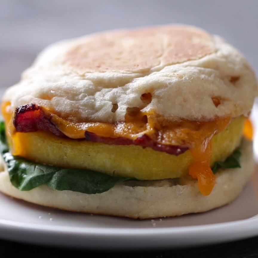 Microwave Prep Breakfast Sandwich