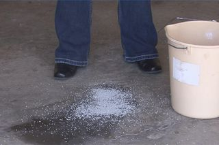 How To Use Paint Thinner To Remove Oil Stains Ehow Remove Grease Stain Grease Stains Remove Oil Stains