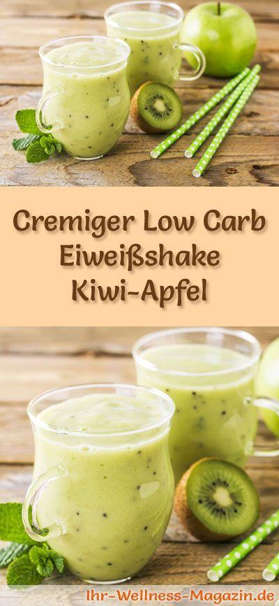 Kiwi-Apfel-Eiweißshake - Low-Carb-Eiweiß-Diät-Rezept #protiendiet