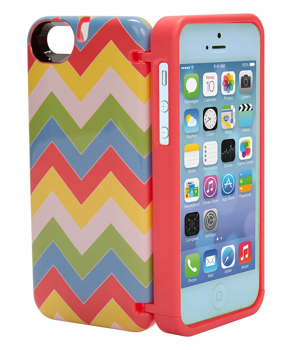 @camryn2411     Love this eyn Red & Yellow Zigzag Storage Phone Case for iPhone 5c by eyn on #zulily! #zulilyfinds