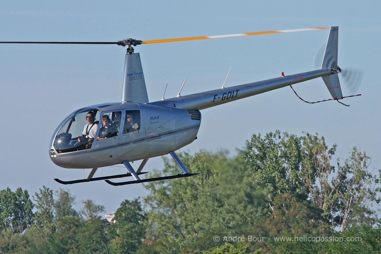 R44 Robinson helicopter pour mon baptême de l'air ...