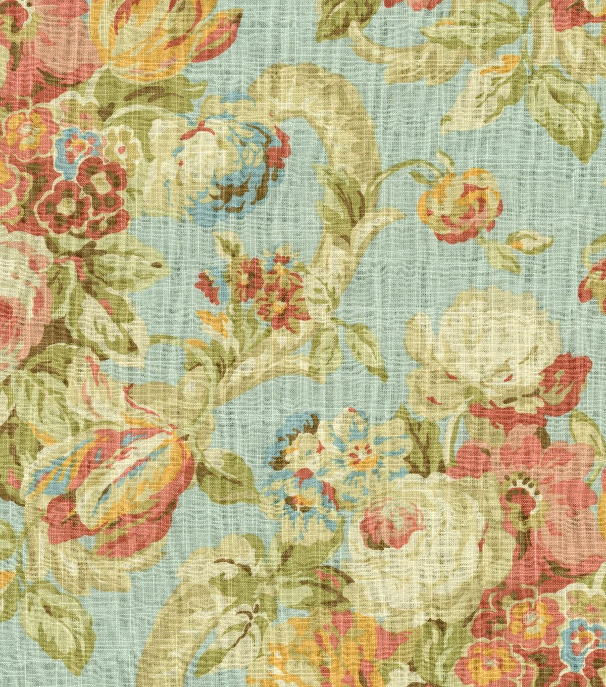 Home Dec Print FabricWaverly Spring Bling Cir Vapor at