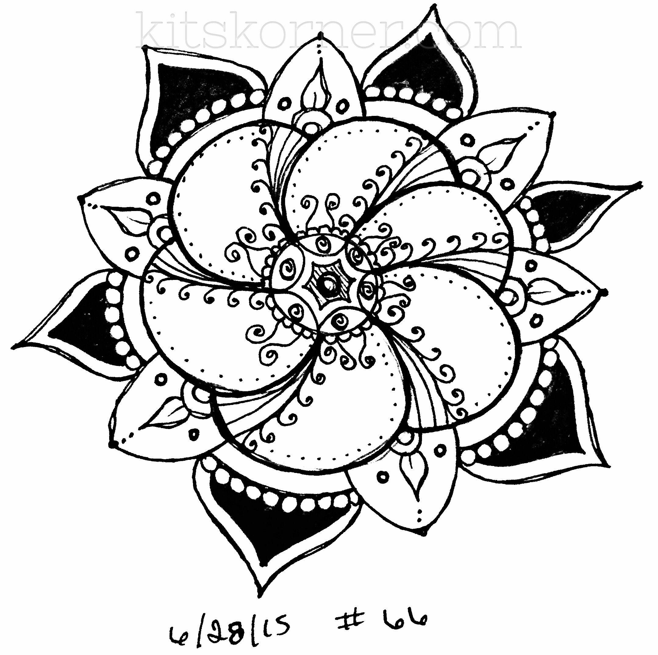 #66 - Sketchbook : 100 Mandalas Challenge Week 11 - KitsKorner.Com