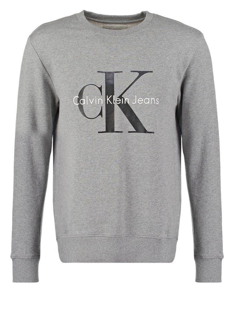 Calvin Klein Jeans Sudadera - light grey heather - Zalando.es  ddc7313b1ef