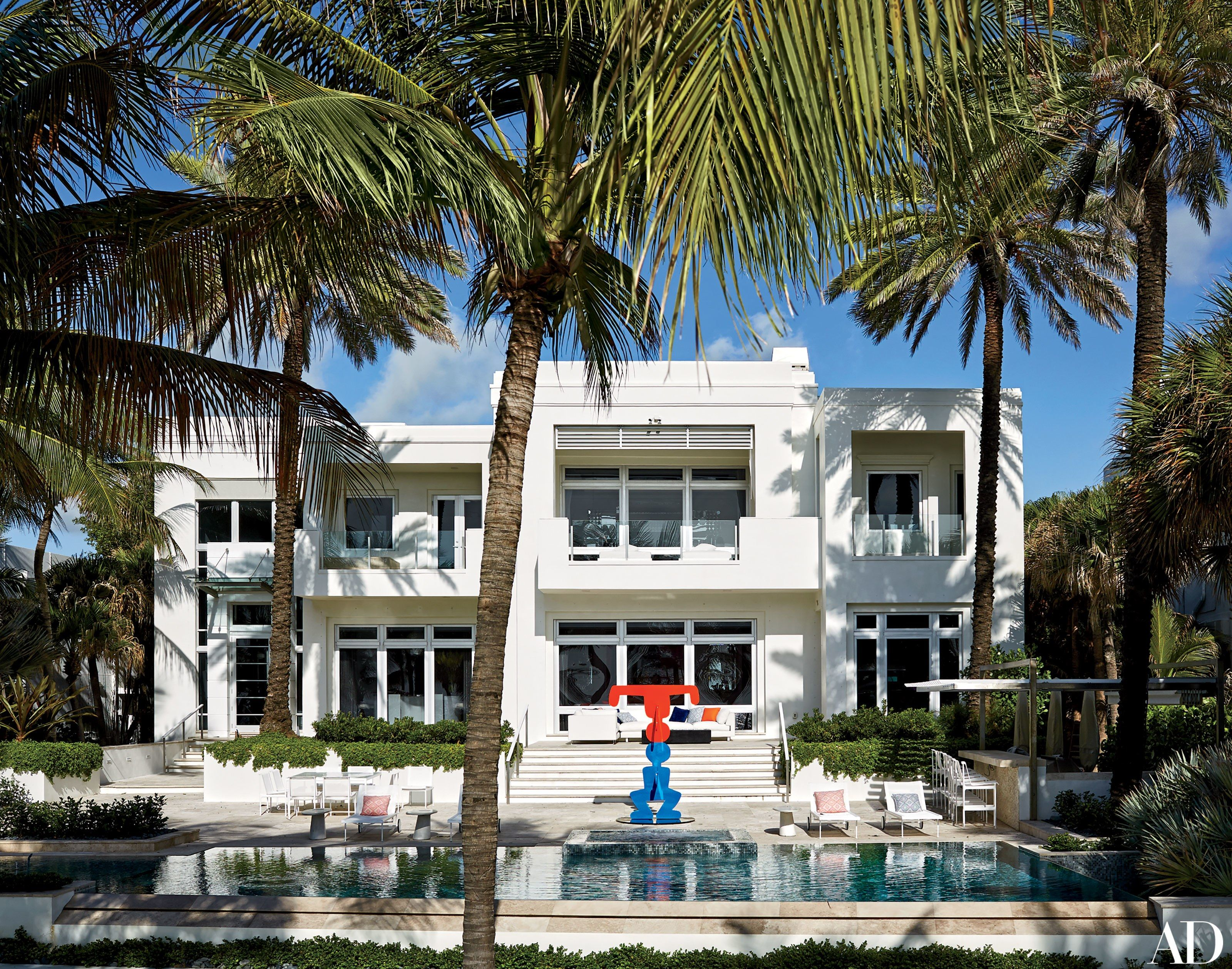 Fashion Designer Tommy Hilfiger's Vibrant Home in Miami Photos | Architectural Digest