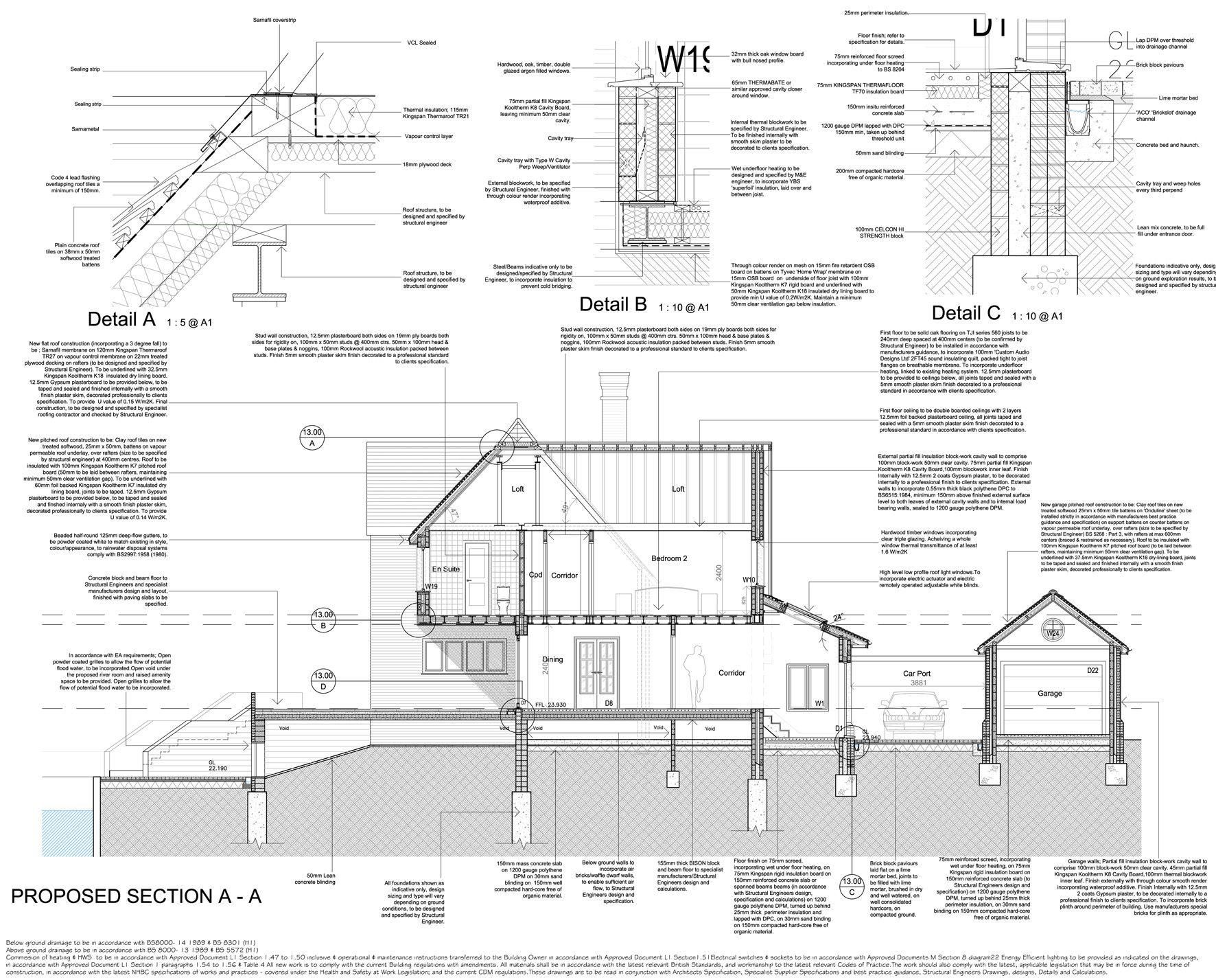 River house tender drawings loft details pinterest for Who draws house plans near me
