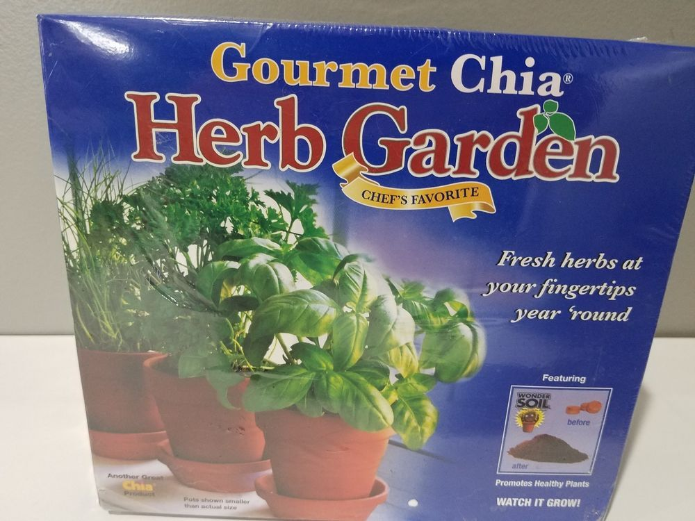 Chia Gourmet Herb Garden Six 6 Herb Packets Three 3 Pots