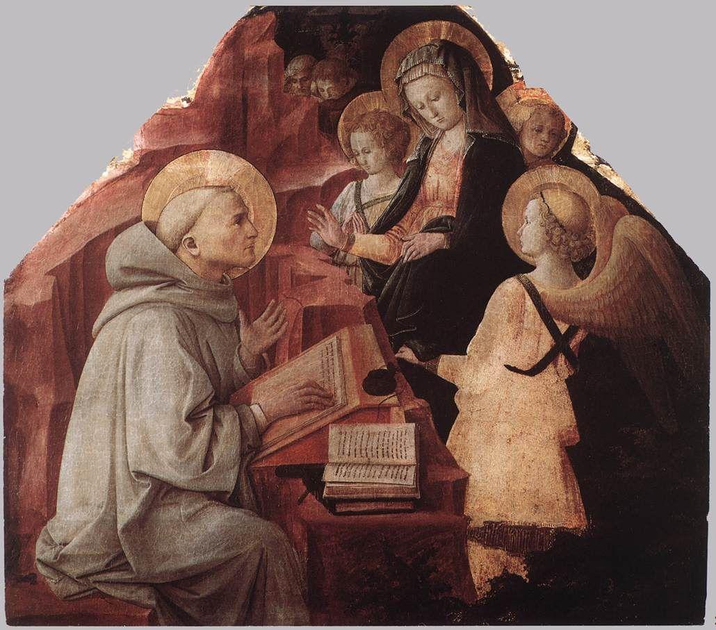 Saint Bernard' Vision Of Virgin 1447 Fra