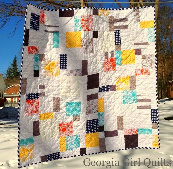 Modern D9P // Quilt by Georgia Girl Quilts   quilts   Pinterest ... : d9p quilt pattern - Adamdwight.com