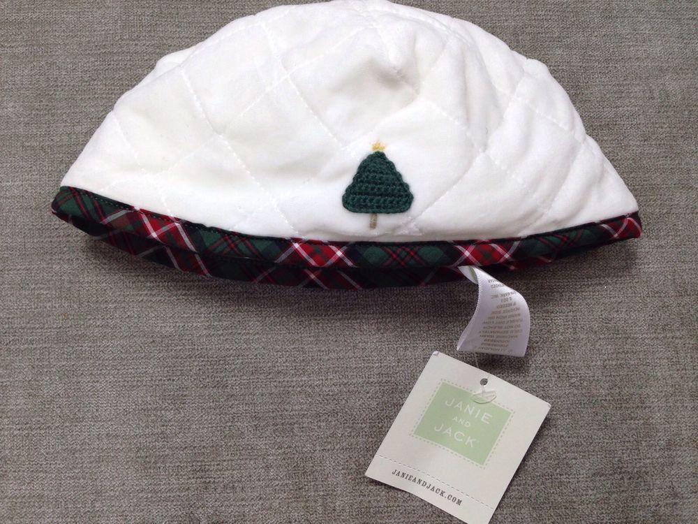 #christmashat Janie and Jack NEW Hat Layette Quilted Christmas Size 12-18 Months NWT LBFO  #JanieandJack