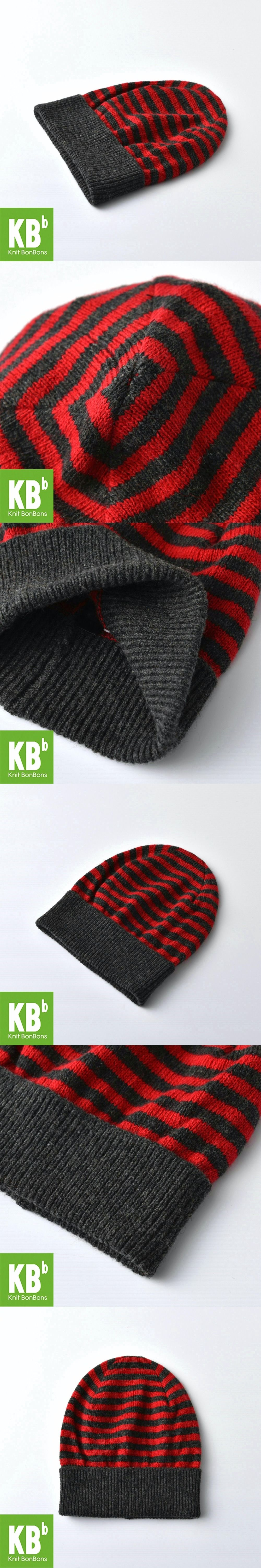 2017 KBB Spring Winter Charcoal Red Classic Men Women Striped ...